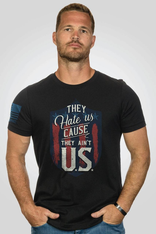 Nine Line Apparel Mens They Hate Us Cause They Aint Us T-Shirt AINTUS-TS