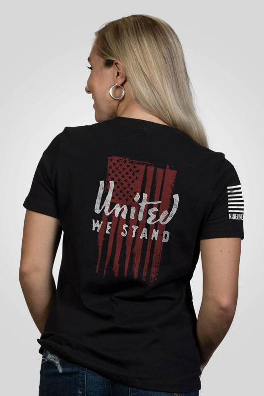Nine Line Apparel Womens United We Stand Relaxed Fit T-Shirt UWSTAND-WRTS