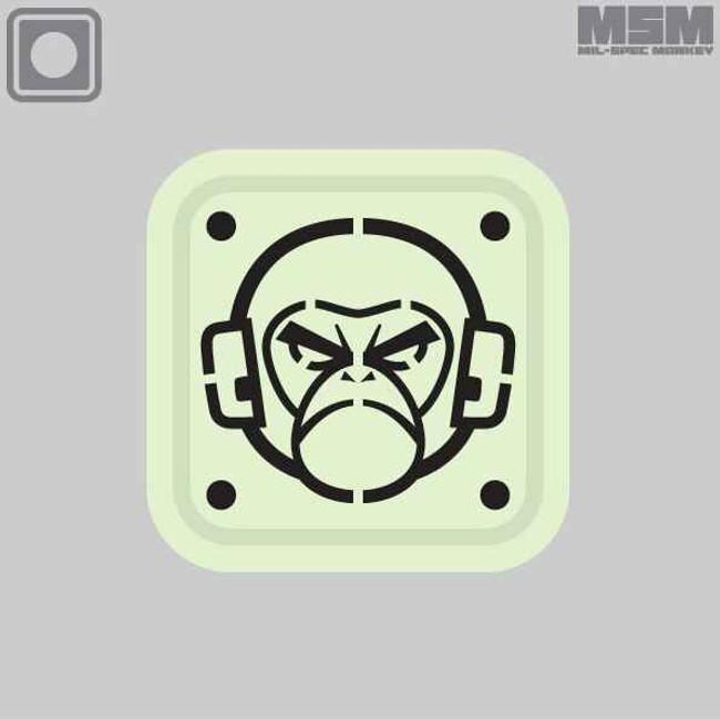 Mil-Spec Monkey Stencil PVC 1inch Patch MONKEYSTENCILPVC1IN