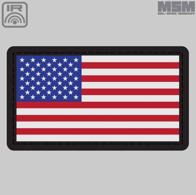 Mil-Spec Monkey MSM IR Sealed US Flag Patch MSMIRSEALEDUSFLAG
