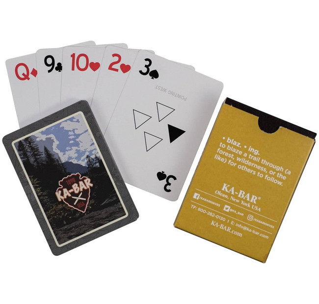 Ka-Bar Knives Water Resistant Playing Cards KB-9914 617717299148