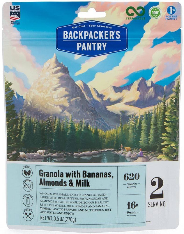 Backpackers Pantry Granola w/ Bananas, Almonds, and Milk - 2 Servings 102018