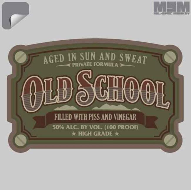 Mil-Spec Monkey Old School Decal OLDSCHOOL