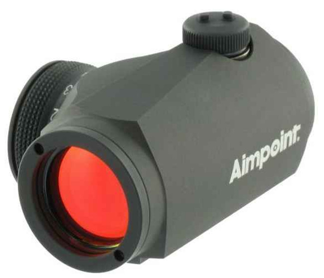 Aimpoint Micro H-1 Red Dot Sight with Matte Standard Mount 11910 7350004381425