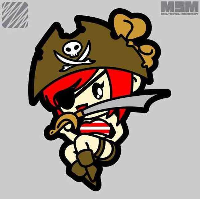 Mil-Spec Monkey Pirate Girl Patch PIRATEGIRL