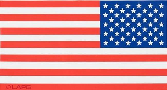 LA Police Gear XLarge Red, White, and Blue Reverse US Flag 6.75 x 3.5 Sticker FLAGSTICK-RWB-REV-XL