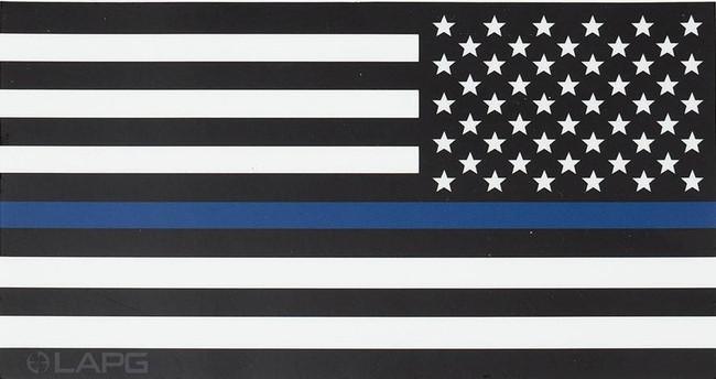 LA Police Gear Jumbo Thin Blue Line Reverse US Flag 8 x 4.25 Sticker FLAGSTICK-TBL-REV-J