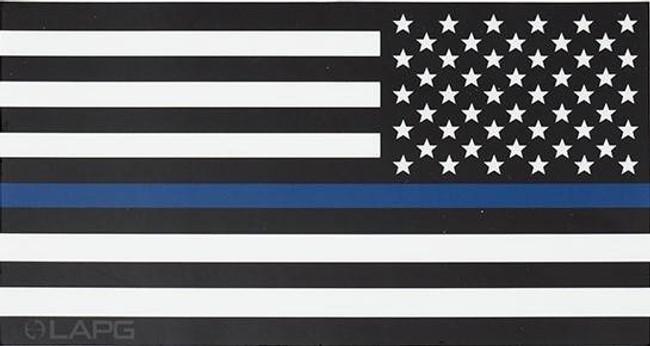 LA Police Gear Large Thin Blue Line Reverse US Flag 5.7 x 3 Sticker FLAGSTICK-TBL-REV-L