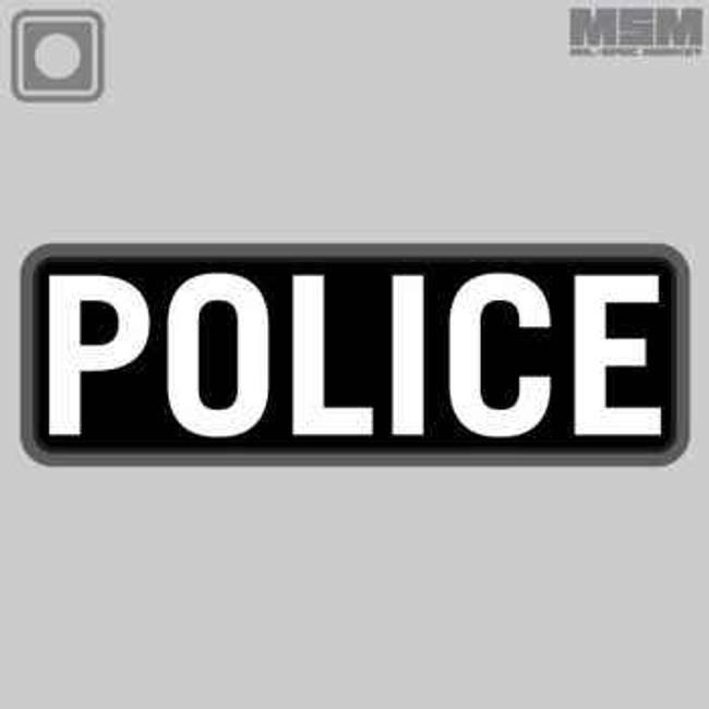 Mil-Spec Monkey Police PVC 6x2 Patch POLICE-6X2