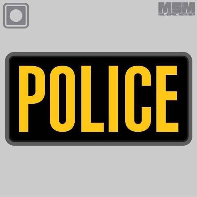 Mil-Spec Monkey Police PVC 6x3 Patch POLICE-6X3