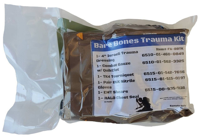 Elite First Aid Bare Bones Trauma Kit EFA-BBTK 894302002851