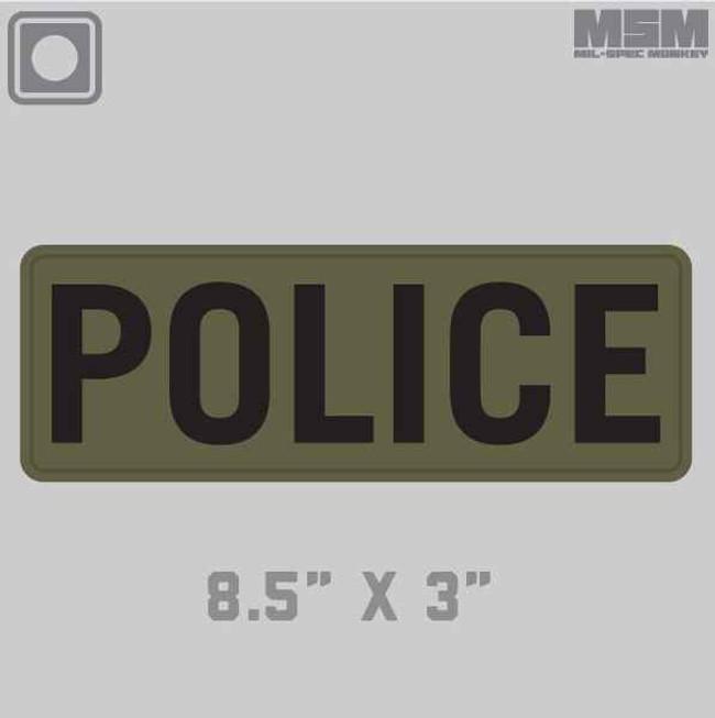 Mil-Spec Monkey Police 8.5 x 3 Patch POLICE-8-5X3