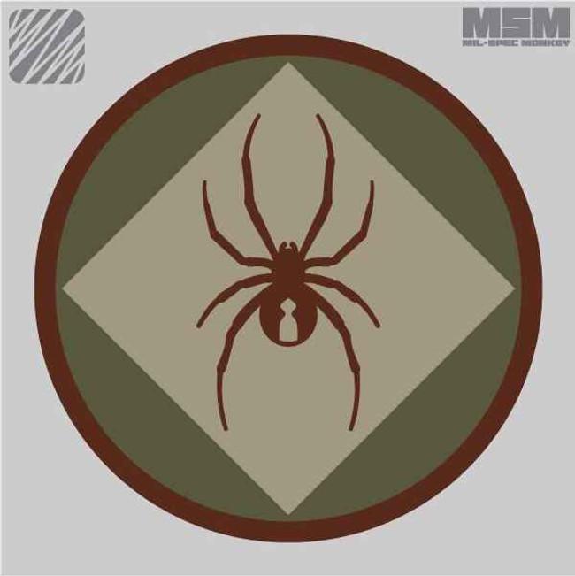 Mil-Spec Monkey RedBackOne Logo Patch REDBACKONE