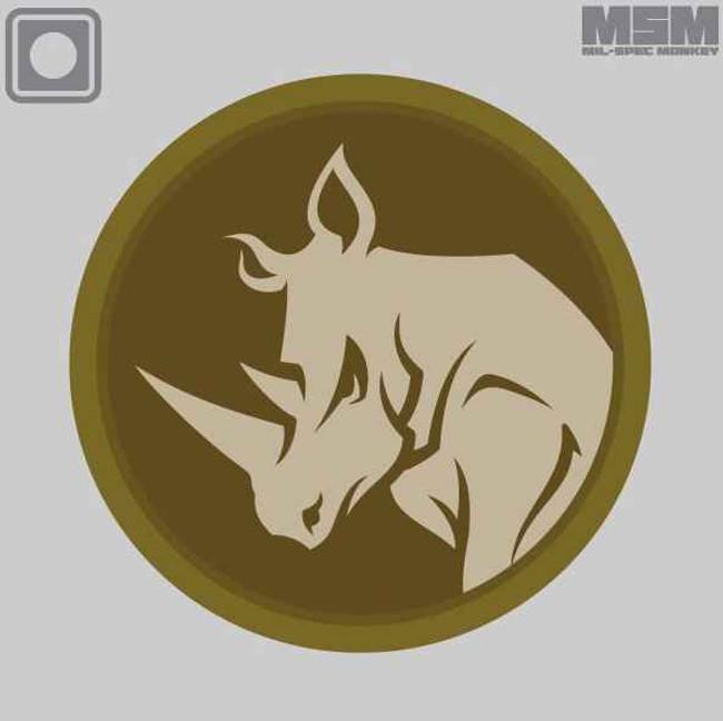 Mil-Spec Monkey Rhino Head Patch RHINOHEAD