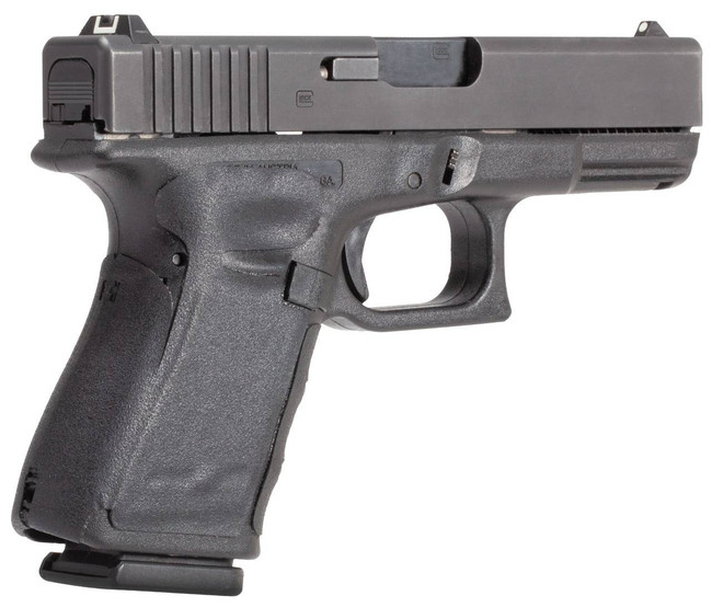 Hogue GLOCK 17, 17MOS, 22, 31, 34, 34MOS, 35, 35MOS Gen 4 Black Rubber Wrapter Adhesive Grip 17140-HOGUE 743108171400