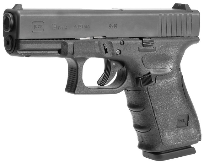 Hogue GLOCK 19, 19MOS, 23, 32 Gen 4 Black Rubber Wrapter Adhesive Grip 17240-HOGUE 743108172407