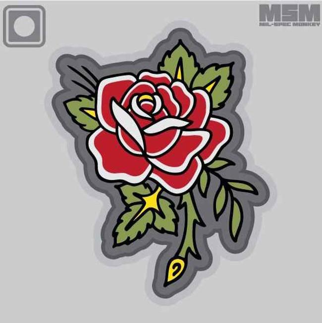 Mil-Spec Monkey Rose Tattoo PVC Patch ROSETATTOOPVC