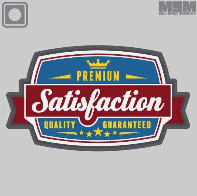 Mil-Spec Monkey Satisfaction PVC Patch SATISFACTION
