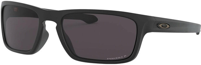 Oakley SI Silver Stealth Matte Black Sunglasses with Prizm Grey Polarized Lenses