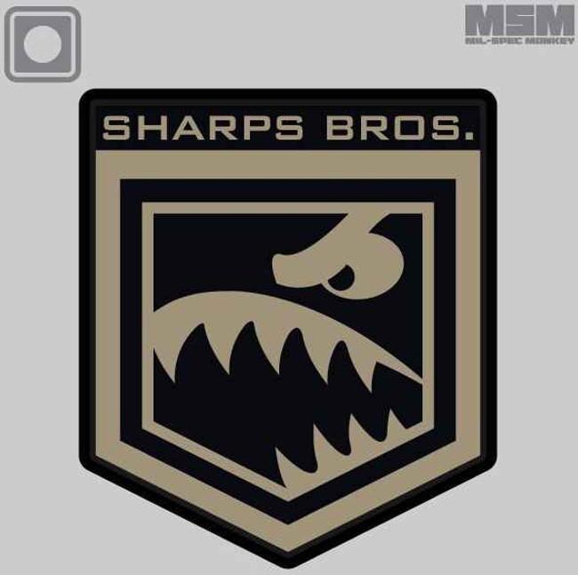 Mil-Spec Monkey Sharps Bros PVC Patch SHARPSBROSPVC