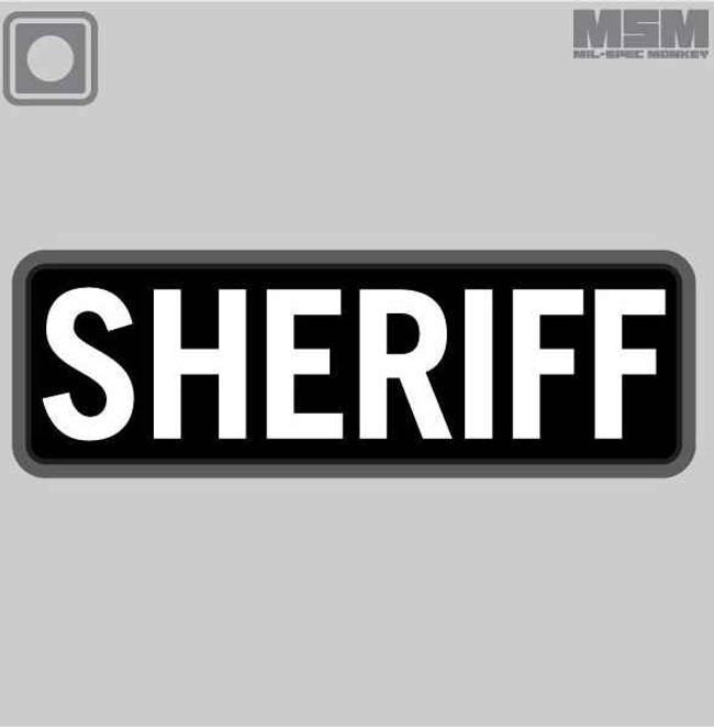 Mil-Spec Monkey Sheriff PVC 6x2 Patch SHERIFF-6X2