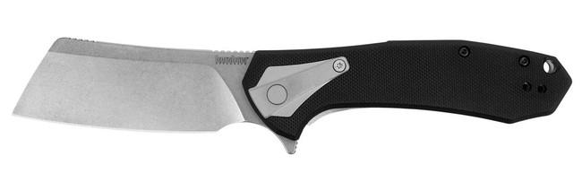 Kershaw Bracket Cleaver Flipper Knife open 3455