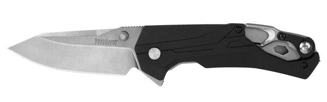 Kershaw Drivetrain Drop Point Flipper Knife open 8655