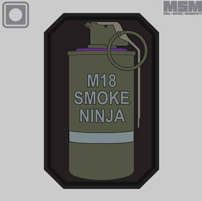 Mil-Spec Monkey Smoke Ninja Patch SMOKENINJA