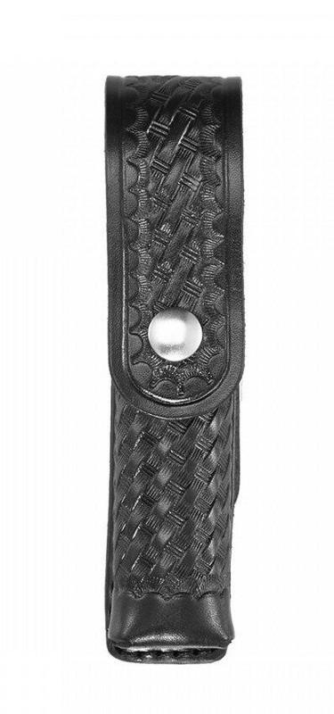 Aker Model 548LED Strion LED Flashlight Case basketweave chrome