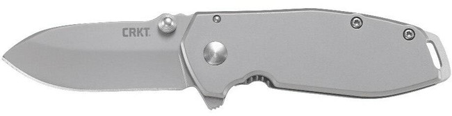 Columbia River Knife and Tool Squid Silver Assisted Folding Knife left side profile