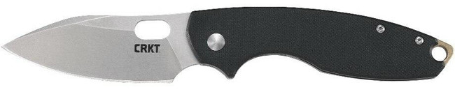 Columbia River Knife and Tool Pilar III Black with Silver D2 Blade Folding Knife left side profile