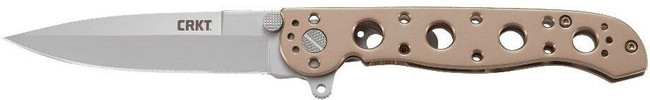 Columbia River Knife and Tool M16-03BS Bronze with Silver Blade Folding Knife left side profile