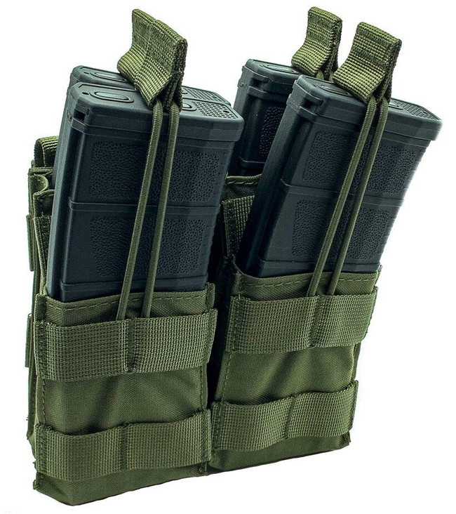 Shellback Tactical Double Stacker Open Top M4 Magazine Pouch - SBT-2200 - Ranger Green - Only 19.99 - |LA Police Gear|