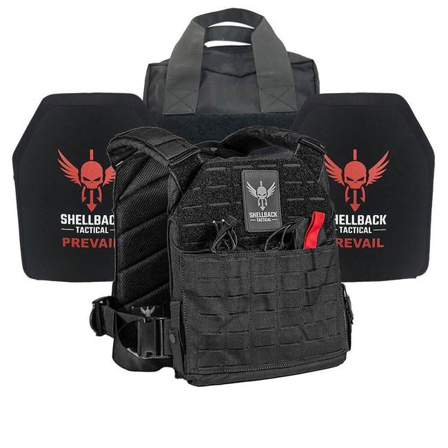 Shellback Tactical Defender 2.0 Active Shooter Kit with Level IV 1155 Plates - SBT-9040-1155 - Black - Only 399.99 - |LA Police Gear|