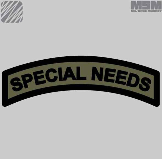 Mil-Spec Monkey Special Needs Patch SPECIALNEEDS