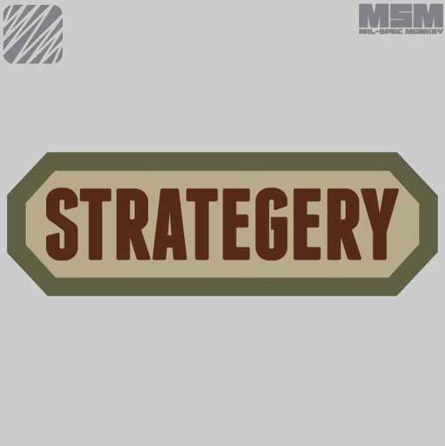 Mil-Spec Monkey Strategery Patch STRATEGRY