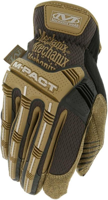 Mechanix Wear M-Pact Open Cuff Brown Glove