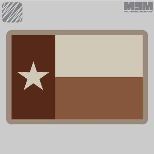 Mil-Spec Monkey Texas Flag Patch TEXASFLAG