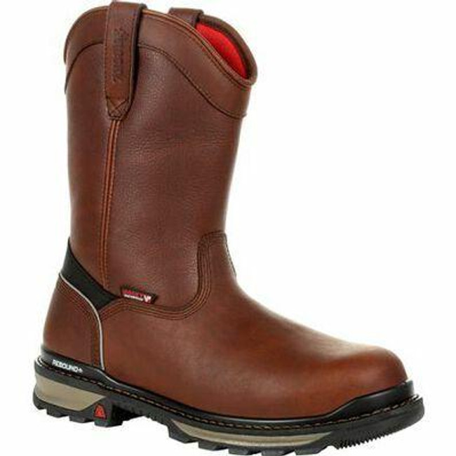 """Rocky Rams Horn Men's 10"""" 400G Insulated Waterproof Composite Toe Pull-On Work Boot RKK0306 - Main - Only $190"""