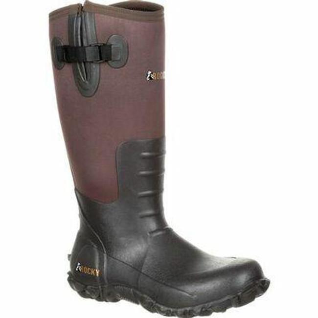 """Rocky Core Men's 16"""" Brown Rubber Waterproof Outdoor Boot RKS0352 - Main - Only $90 -  LA Police Gear """