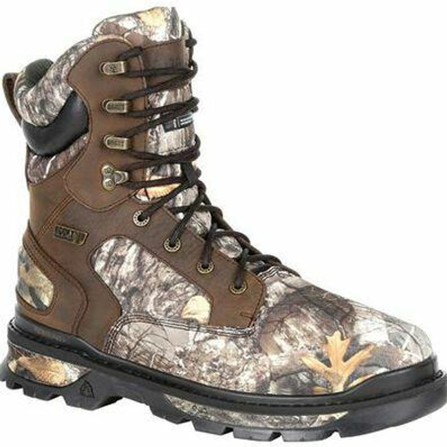 """Rocky Rams Horn Men's Realtree 8"""" 1000G Insulated Waterproof Outdoor Boot RKS0416 - Main - Only $135 - LA Police Gear"""
