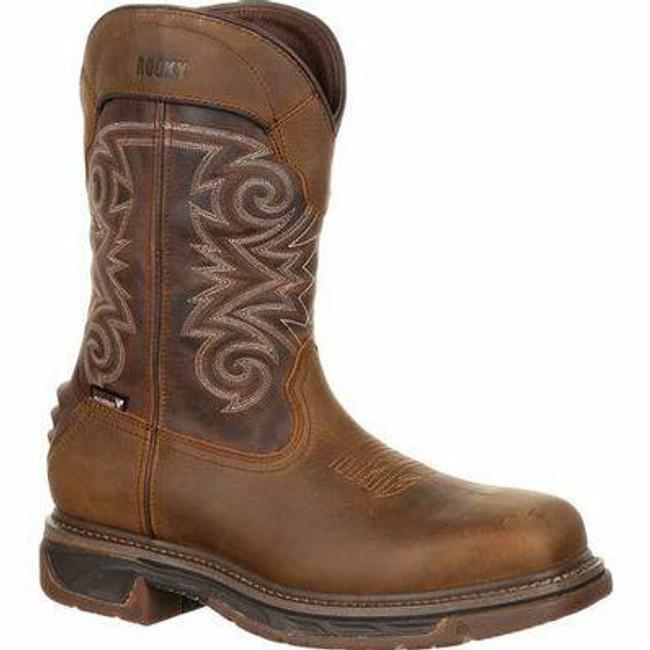 """Rocky Iron Skull Men's 12"""" Composite Toe Waterproof Western Boot RKW0249 - Main - Only $195 - LA Police Gear"""