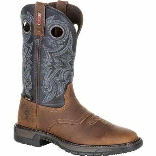 """Rocky Original Ride FLX Men's 12"""" Waterproof Western Boot RKW0281- Main - Only $185 - LA Police Gear"""