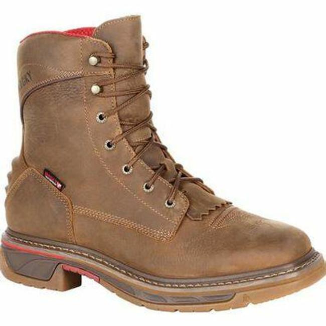 """Rocky Iron Skull Men's 8"""" Waterproof Lacer Western Boot RKW0286 - Main - Only $175 - La Police Gear"""