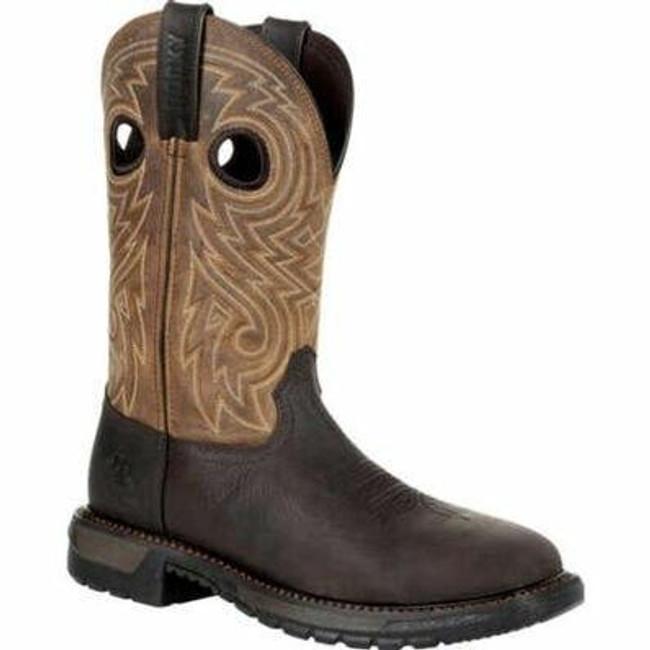 """Rocky Original Ride FLX Men's 11"""" Steel Toe Western Boot RKW0305 - Main - Only $170 - LA Police Gear"""