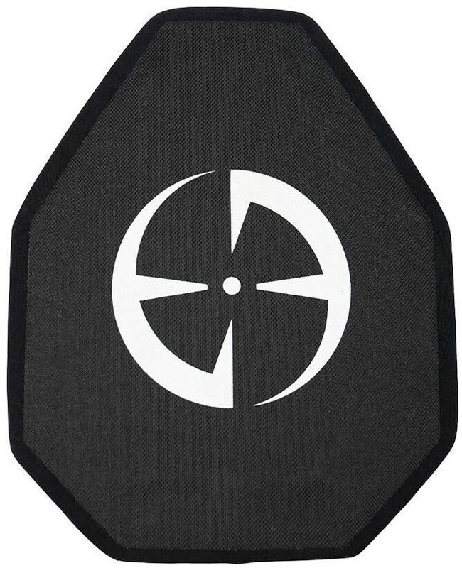 "LA Police Gear Level IV 10"" x 12"" Shooter's Cut Ceramic Ballistic Armor Rifle Plate - Front"