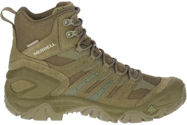 """Merrell Strongfield Tactical 6"""" Dark Olive Waterproof Boot - Outside"""