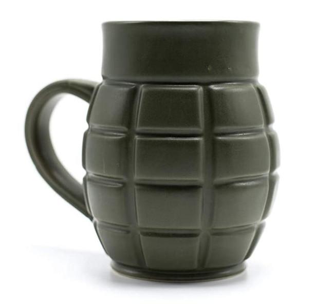 Caliber Gourmet Green Grenade Mug - CBG-M-1043 - Main - Only $10.99 - LA Police Gear