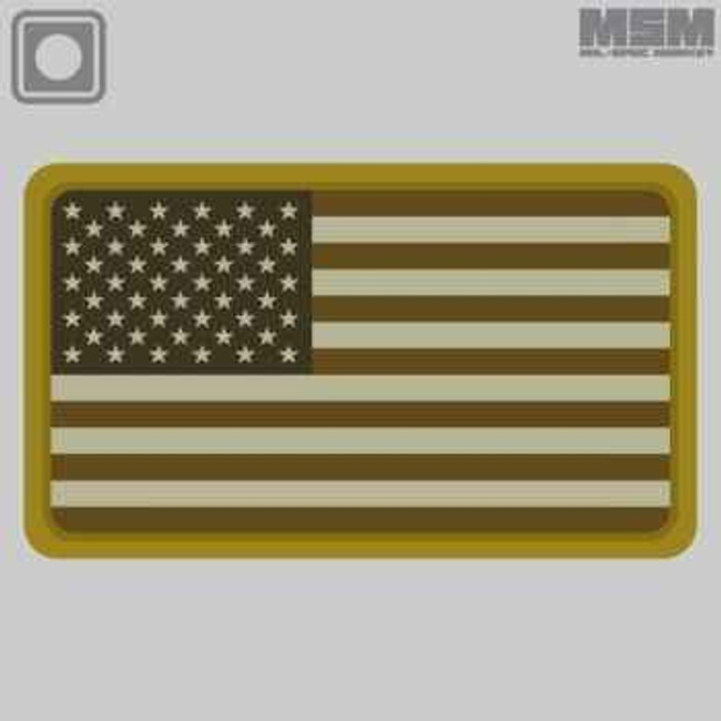 Mil-Spec Monkey US Flag PVC Patch USFLAGPVC