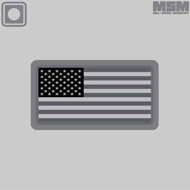 Mil-Spec Monkey US Flag PVC Mini Patch USFLAGPVC-MINI